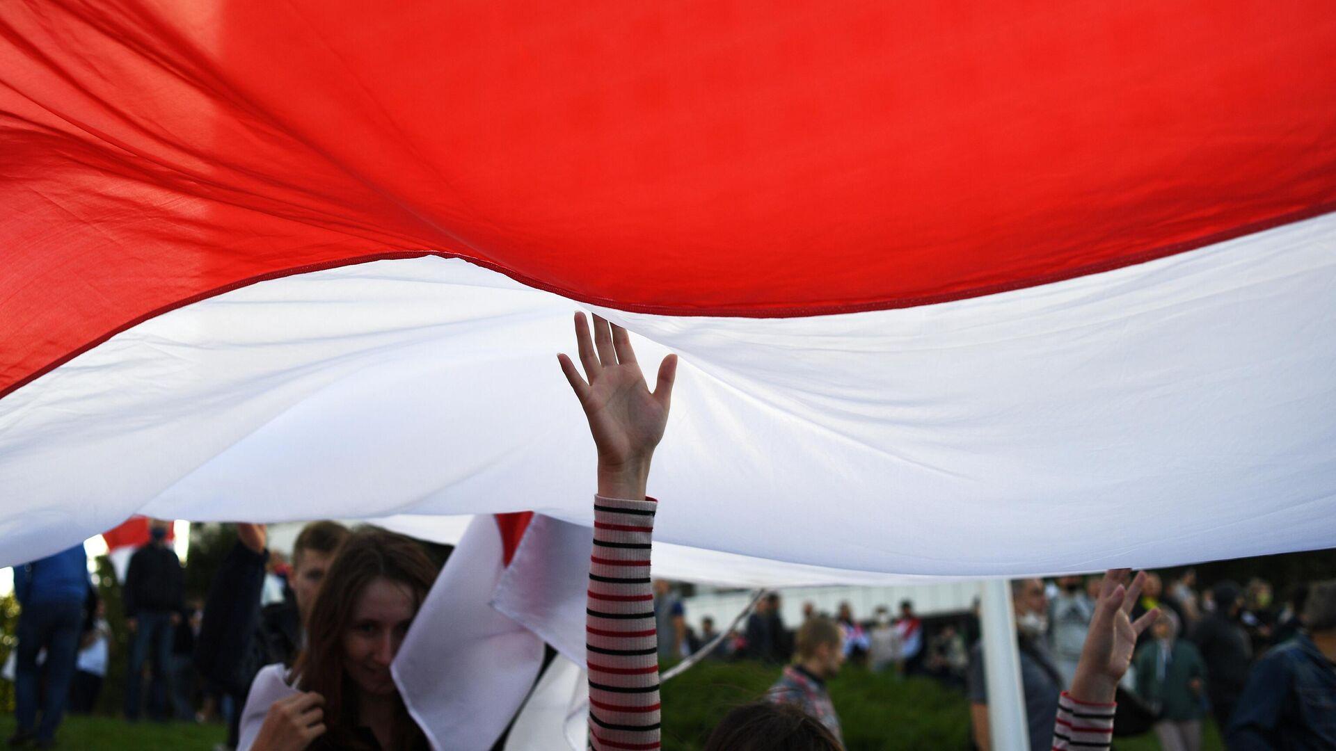 Участники несанкционированной акции оппозиции в Минске - РИА Новости, 1920, 16.09.2020