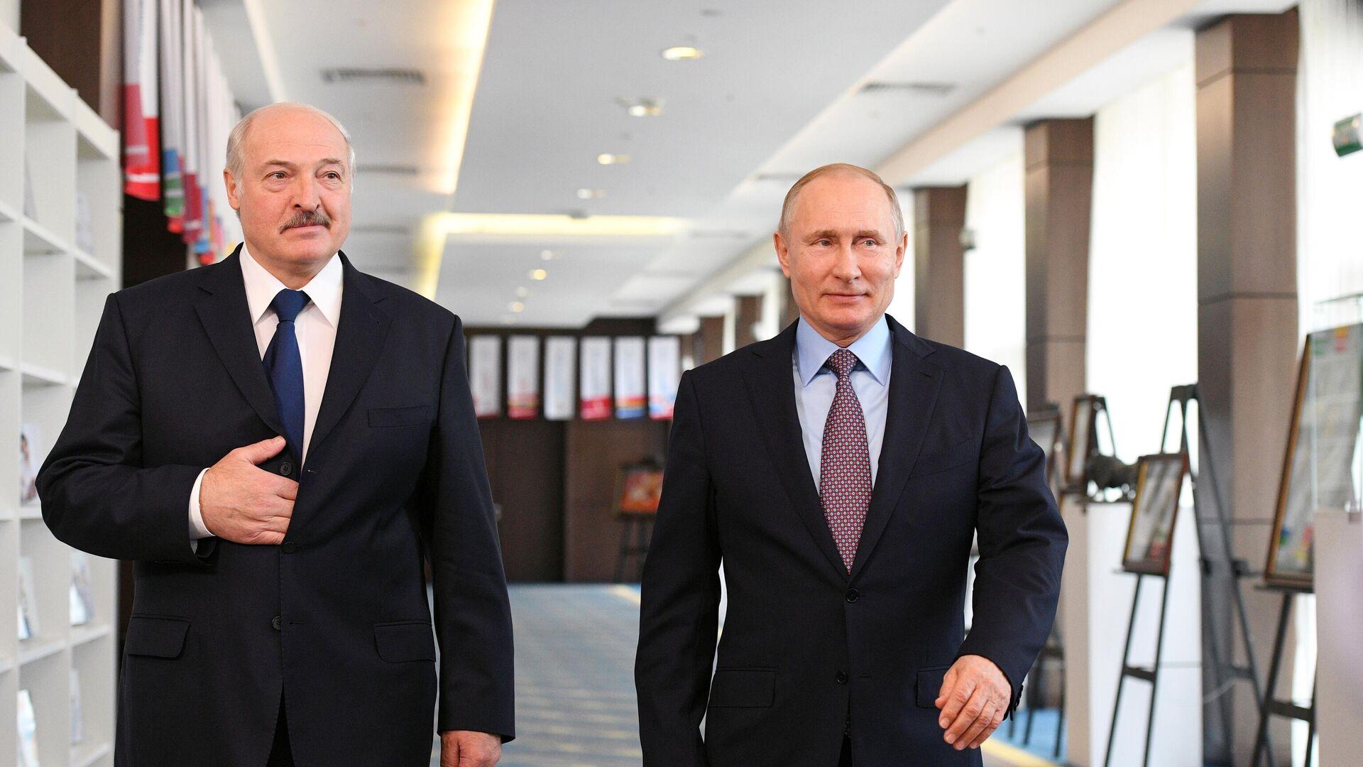 Президент РФ Владимир Путин и президент Белоруссии Александр Лукашенко - РИА Новости, 1920, 24.09.2020