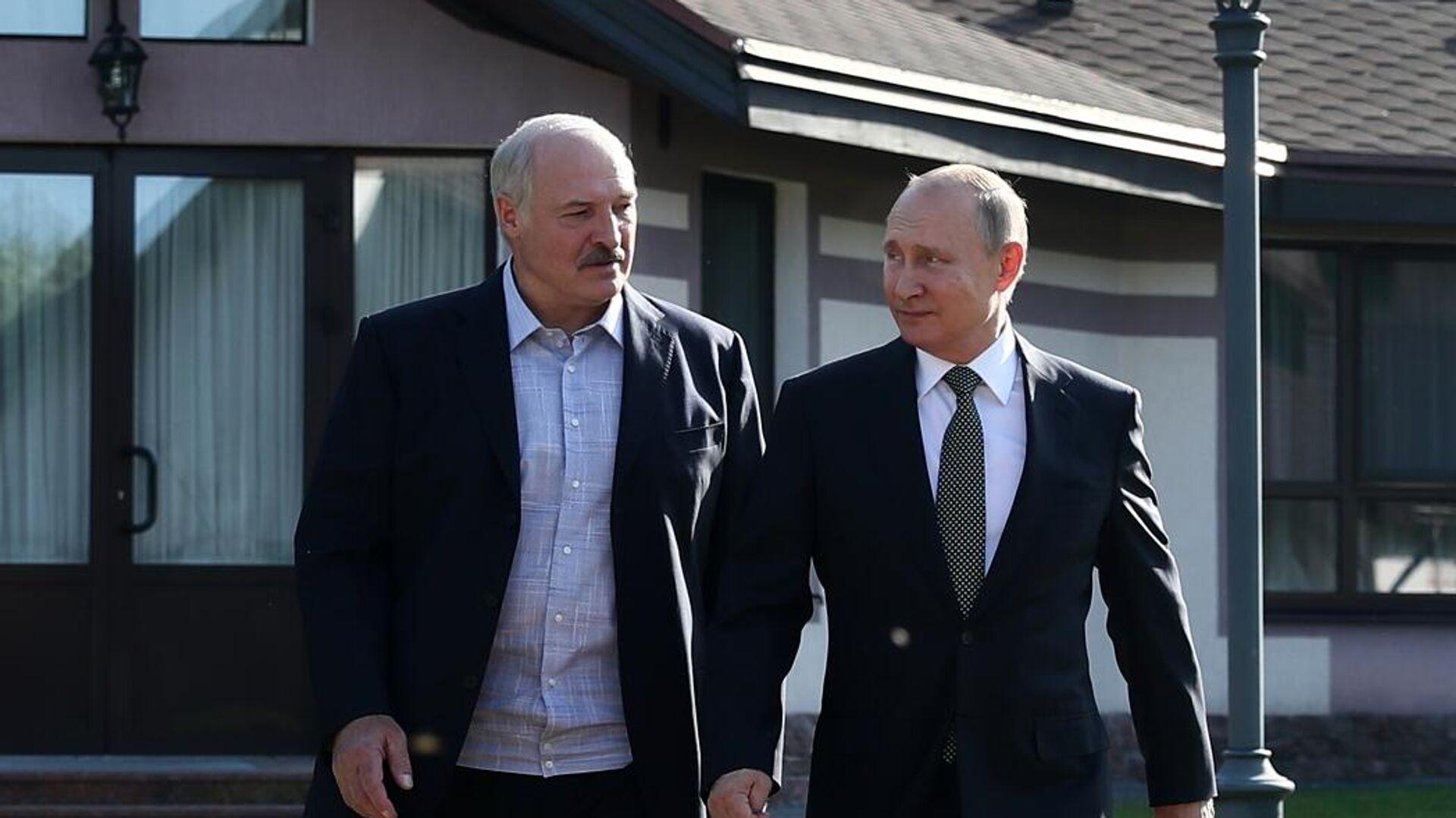 Президент РФ Владимир Путин и президент Белоруссии Александр Лукашенко - РИА Новости, 1920, 20.01.2021
