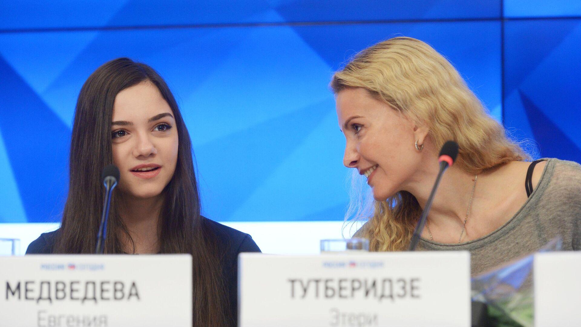Евгения Медведева и Этери Тутберидзе - РИА Новости, 1920, 16.09.2020