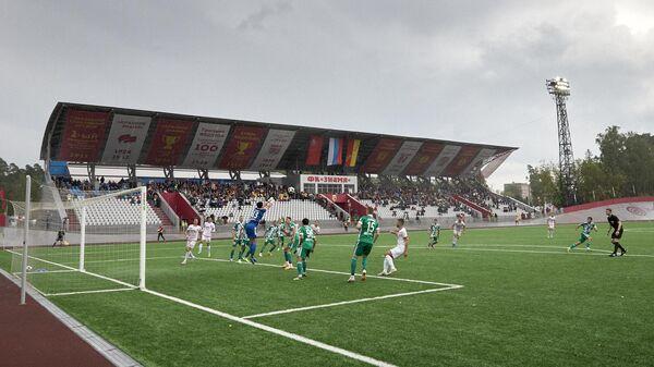 Матч Кубка России по футболу между клубами Знамя и Ахмат