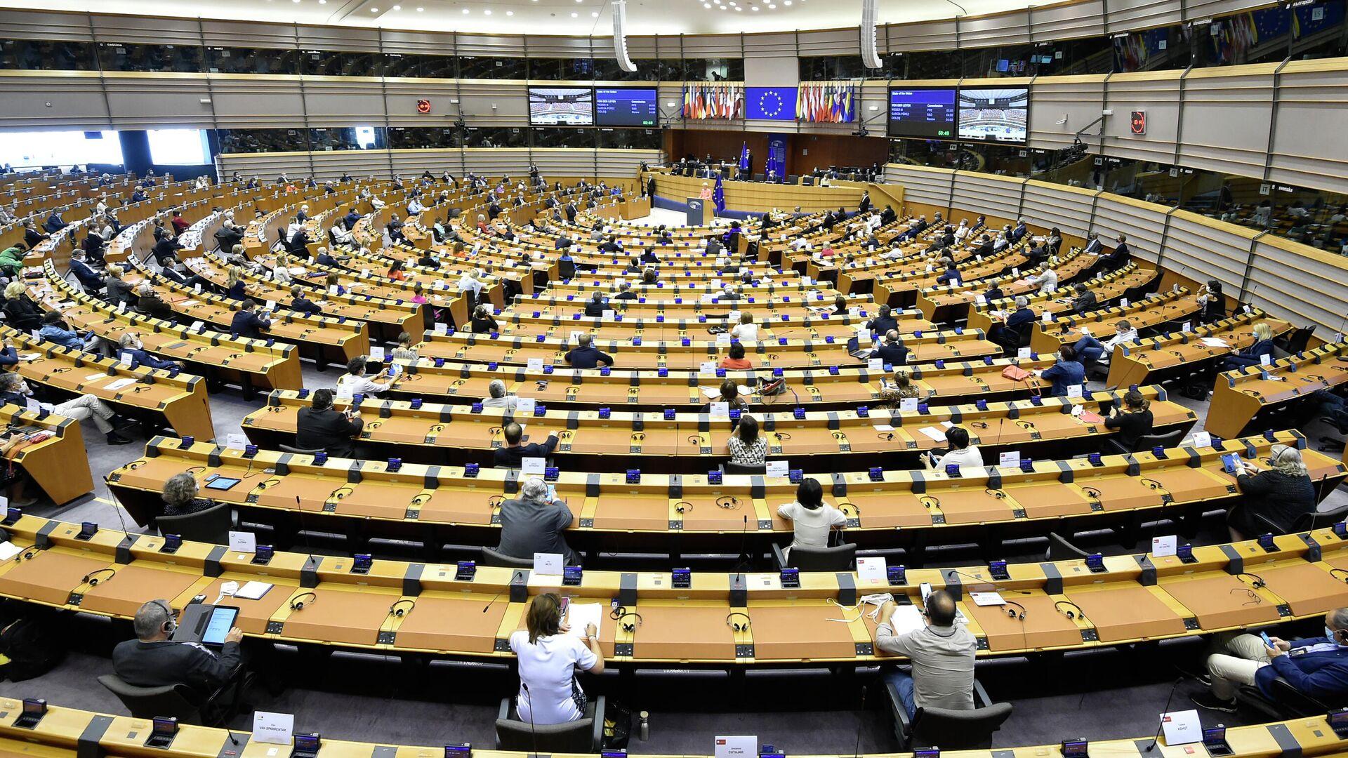 Пленарное заседание в Европейском парламенте в Брюсселе - РИА Новости, 1920, 19.09.2020