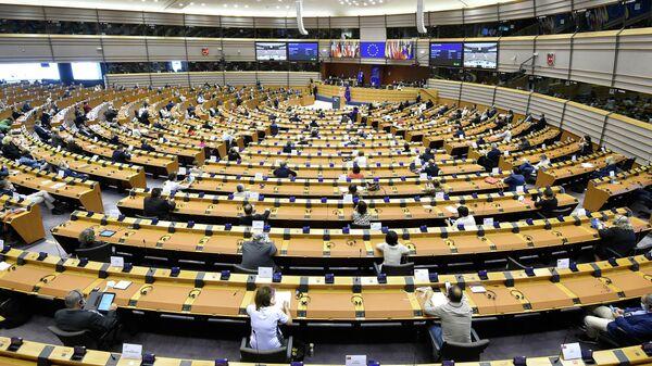 Пленарное заседание в Европейском парламенте в Брюсселе