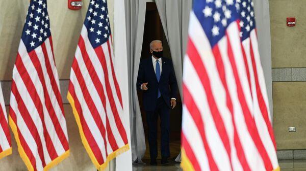 Кандидат в президенты США от Демократической партии и бывший вице-президент Джо Байден в Национальном центре Конституции в Филадельфии