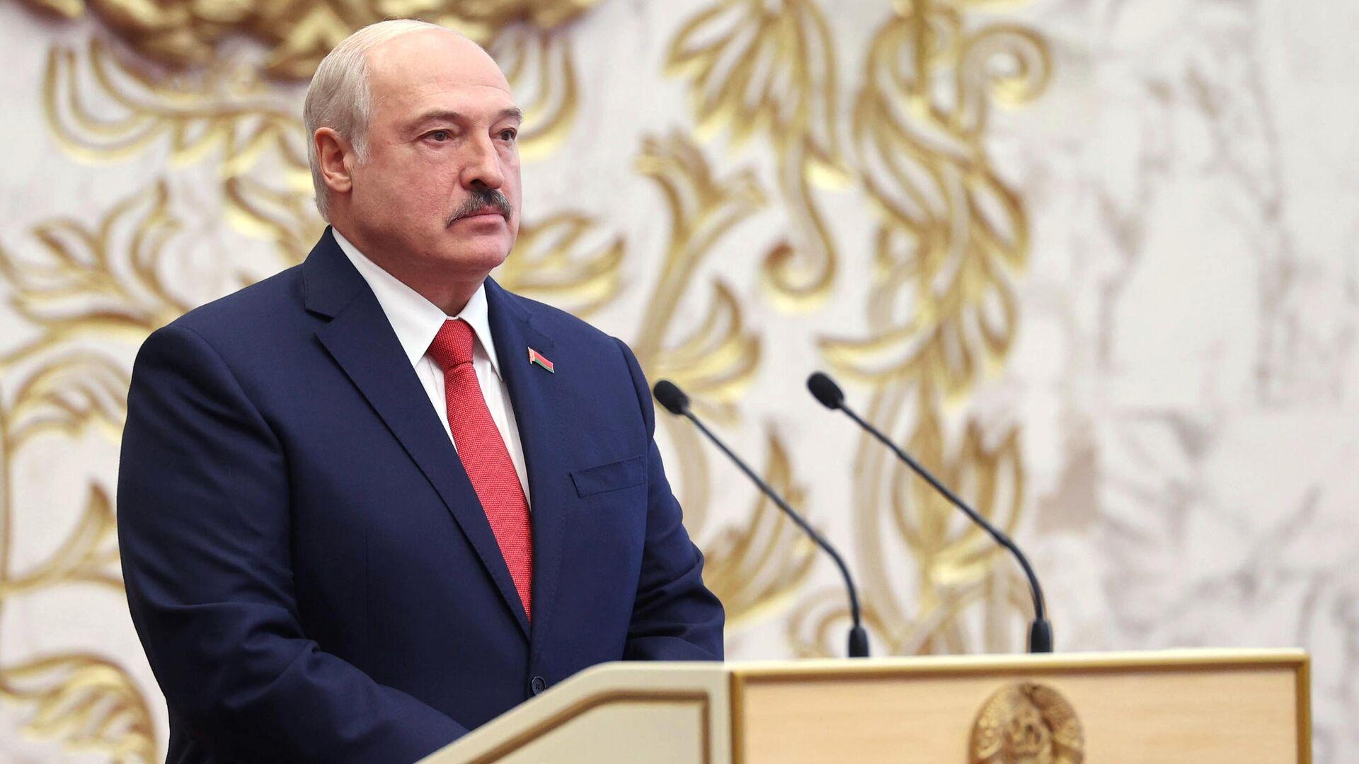Президент Белоруссии Александр Лукашенко на церемонии инаугурации в Минске - РИА Новости, 1920, 24.09.2020