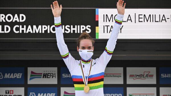 Велогонщица Анна ван дер Брегген (Нидерланды)