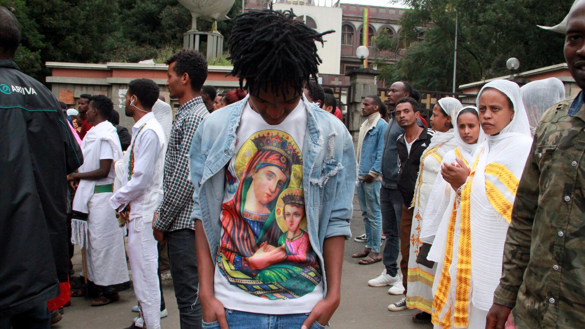 Празднование Мескеля в Аддис-Абебе, Эфиопия - РИА Новости, 1920, 27.09.2020