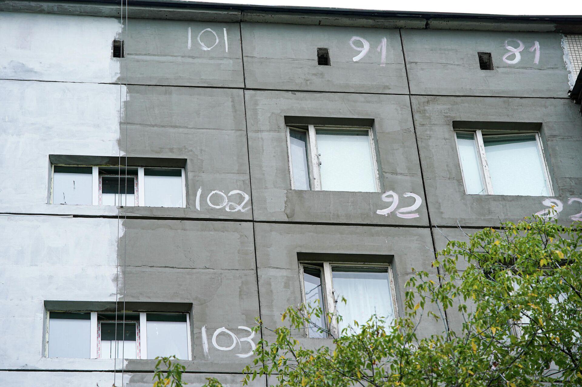 Ремонт фасада здания в Москве - РИА Новости, 1920, 25.09.2020