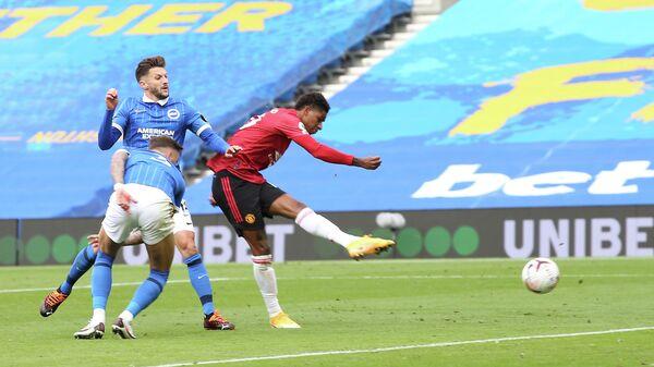 Нападающий Манчестер Юнайтед Маркус Рэшфорд в матче АПЛ
