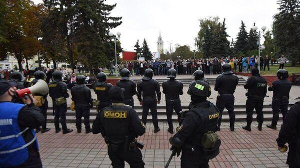 Акции протеста оппозиции в Гомеле