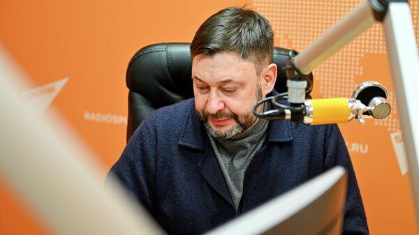 Исполнительный директор МИА Россия сегодня Кирилл Вышинский во время интервью в студии радио Sputnik