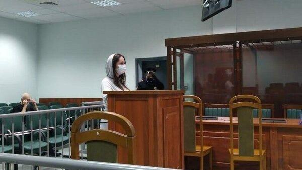 Бывшая студентка Петербургского университета Екатерина Пржигодзкая во время судебного заседания