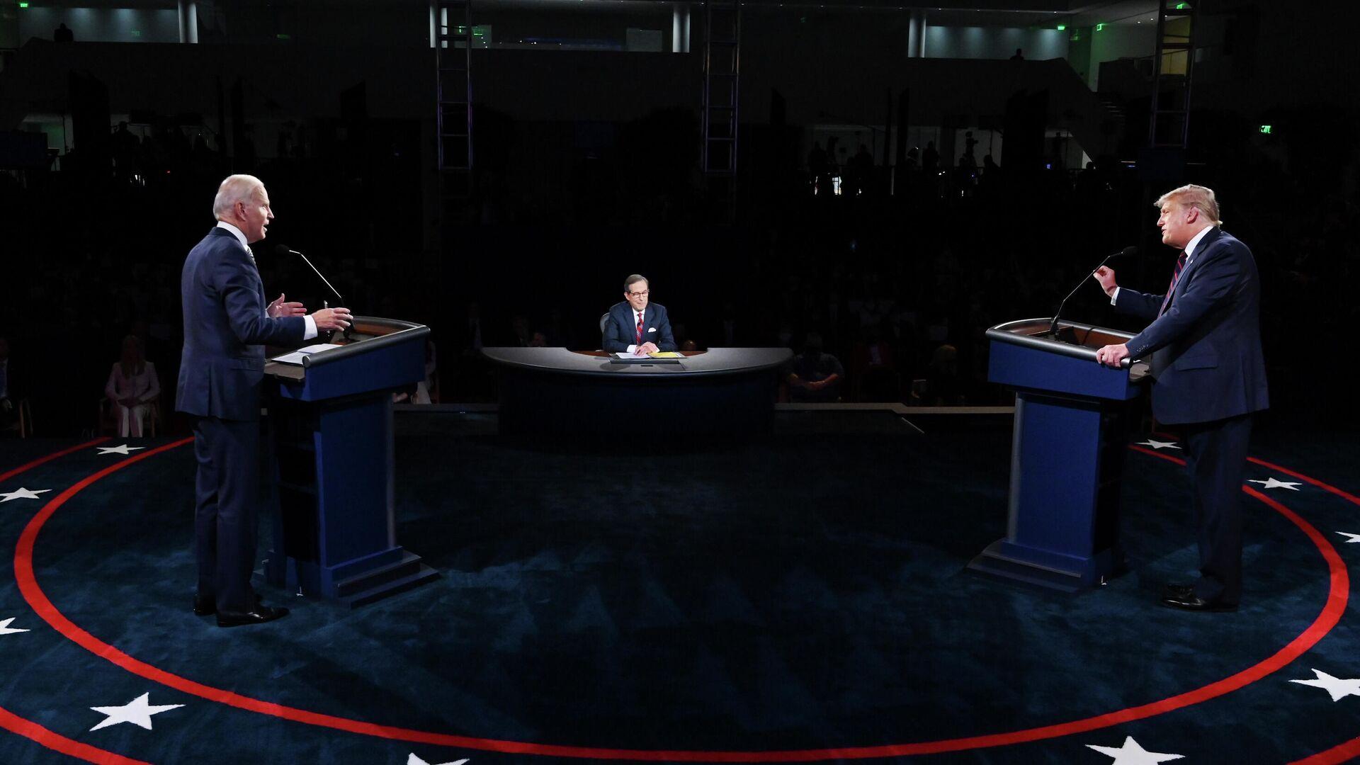 Дебаты Дональда Трампа и Джо Байдена в Кливленде, США  - РИА Новости, 1920, 30.09.2020