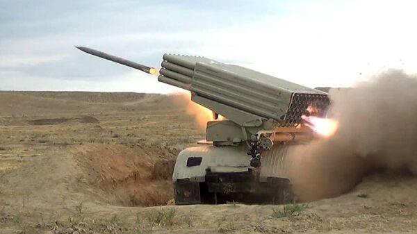 Учения артиллерийских подразделений Азербайджана