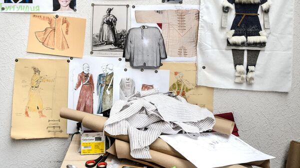 Эскизы костюмов для исторической реконструкции в мастерских по изготовлению реквизита