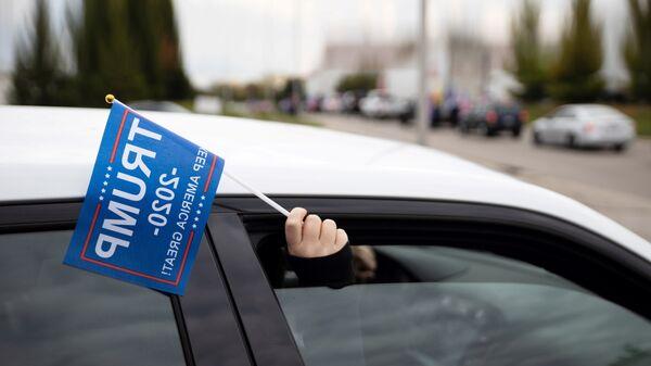 Сторонник Дональда Трампа на автопробеге в США