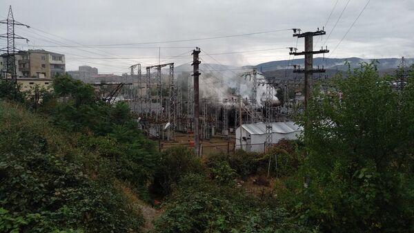 Электростанция, поврежденный в результате обстрелов Степанакерта