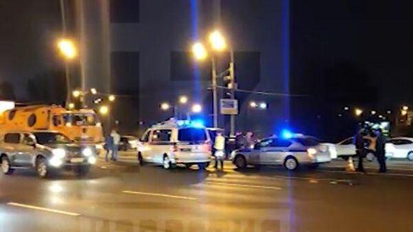 Кадры с места смертельной аварии в Москве
