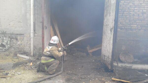 Пожар на пилораме в Пензенской области