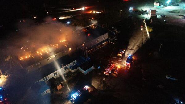 Пожар в селе Заосередные сады Воронежской области