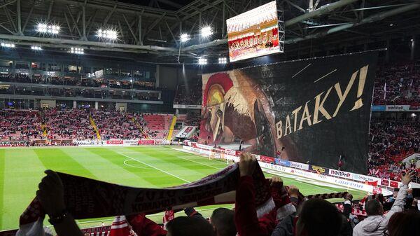 Стадион Спартака перед началом матча с Зенитом