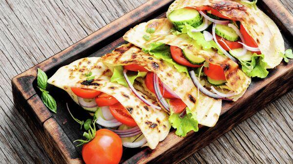 Лепешка с овощами