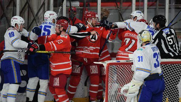 Барыс - Ак Барс в матче регулярного чемпионата КХЛ