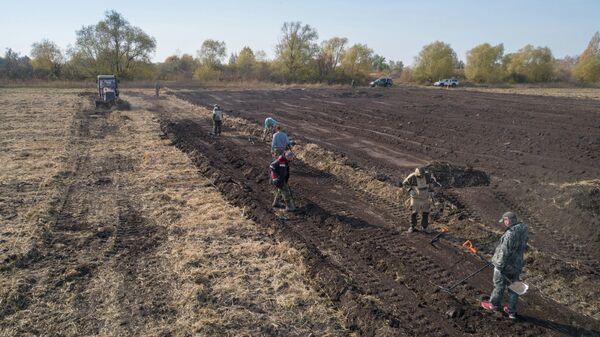 Раскопки в районе деревни Хворостянка Куркинского района Тульской области