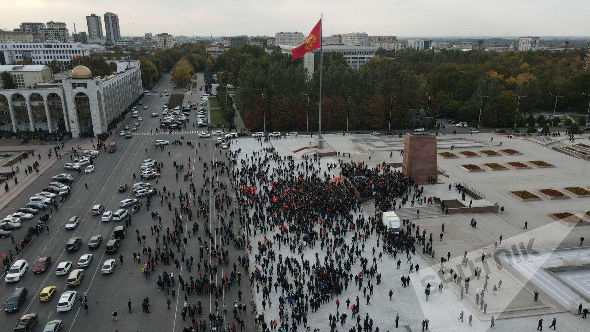 Ситуация в центре Бишкека. 9 октября 2020 - РИА Новости, 1920, 24.10.2020