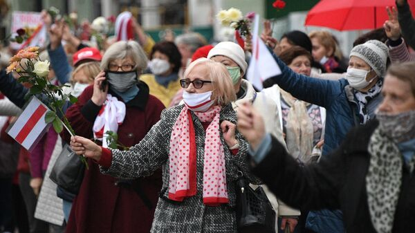 Акция протеста пенсионеров в Минске