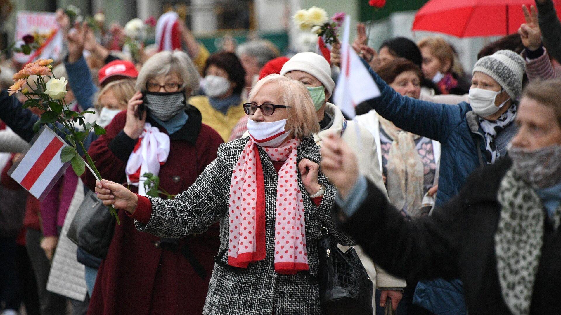 Акция протеста пенсионеров в Минске - РИА Новости, 1920, 19.10.2020