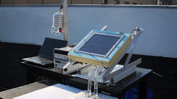 Двухступенчатая система сбора воды, установленная на крыше Массачусетского технологического института