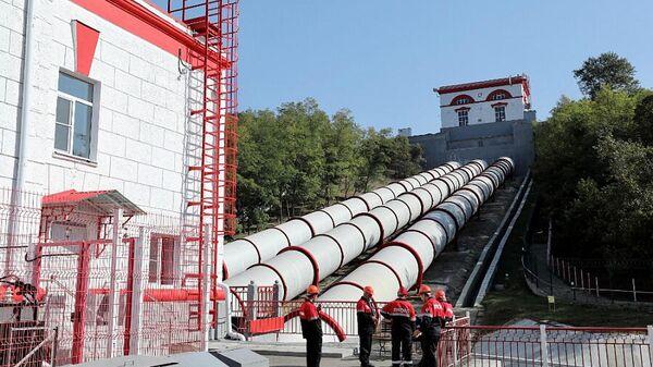 Торжественный запуск Белореченской гидроэлектростанции