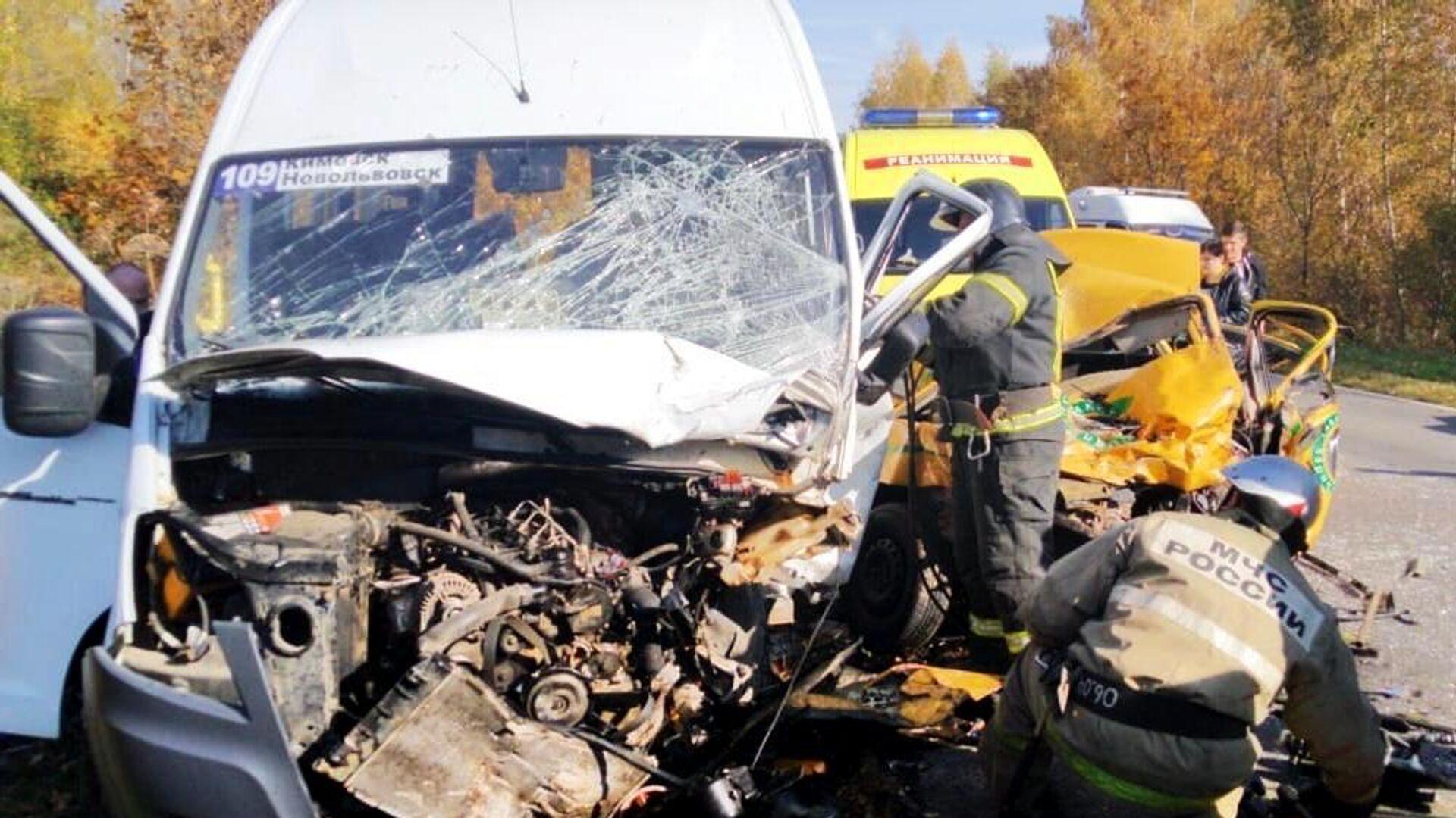 Число пострадавших в ДТП с маршруткой в Тульской области выросло до шести