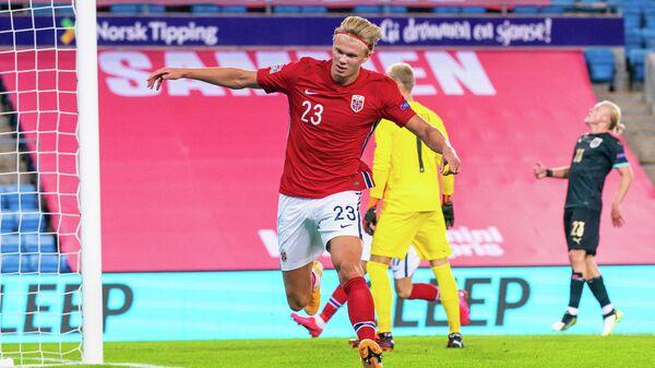 Нападающий сборной Норвегии Эрлинг Холанн
