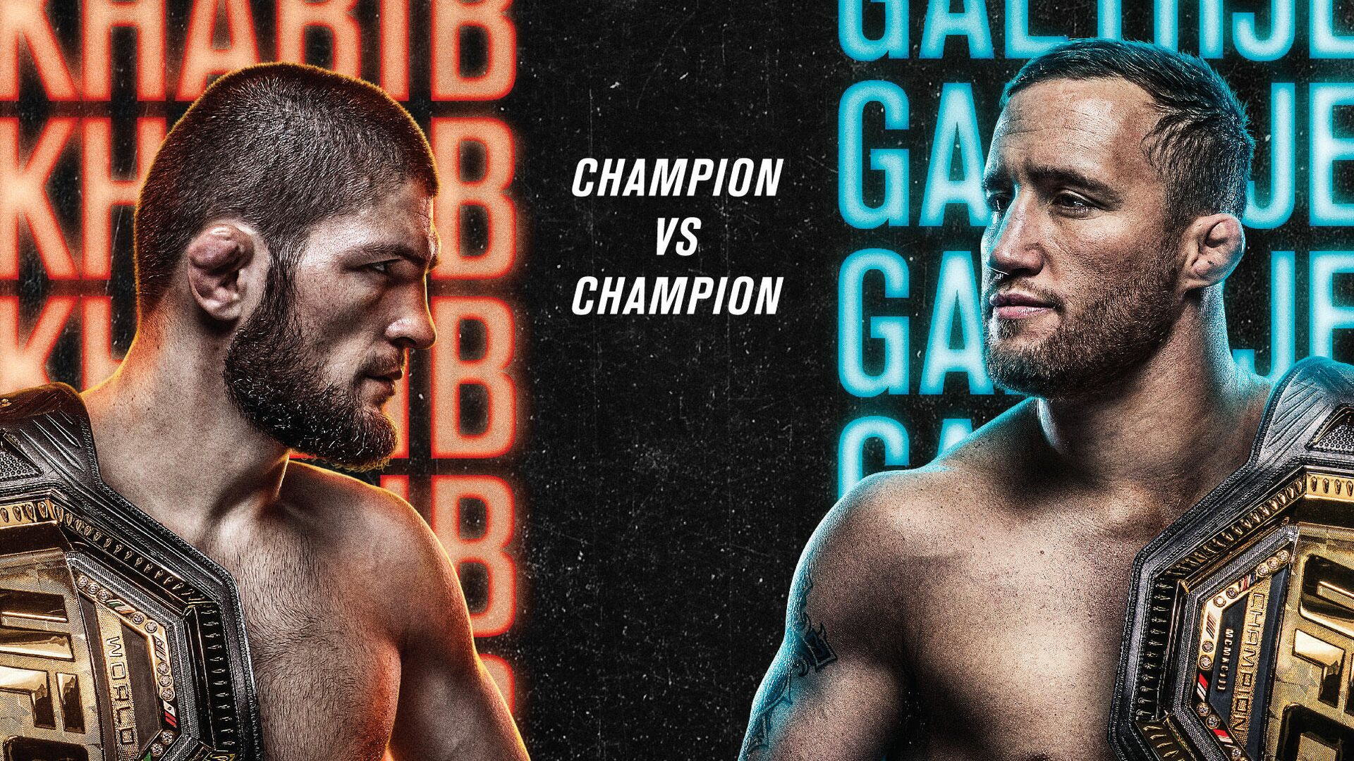 Постер к турниру UFC 254  - РИА Новости, 1920, 19.10.2020