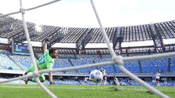 Игровой момент матча Аталанта - Наполи