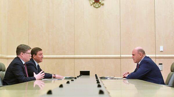 Председатель правительства РФ Михаил Мишустин проводит встречу с руководством партии Единая Россия