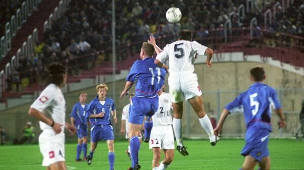 12 октября 2002 года. Матч сборных России и Грузии на стадионе Локомотив в Тбилиси