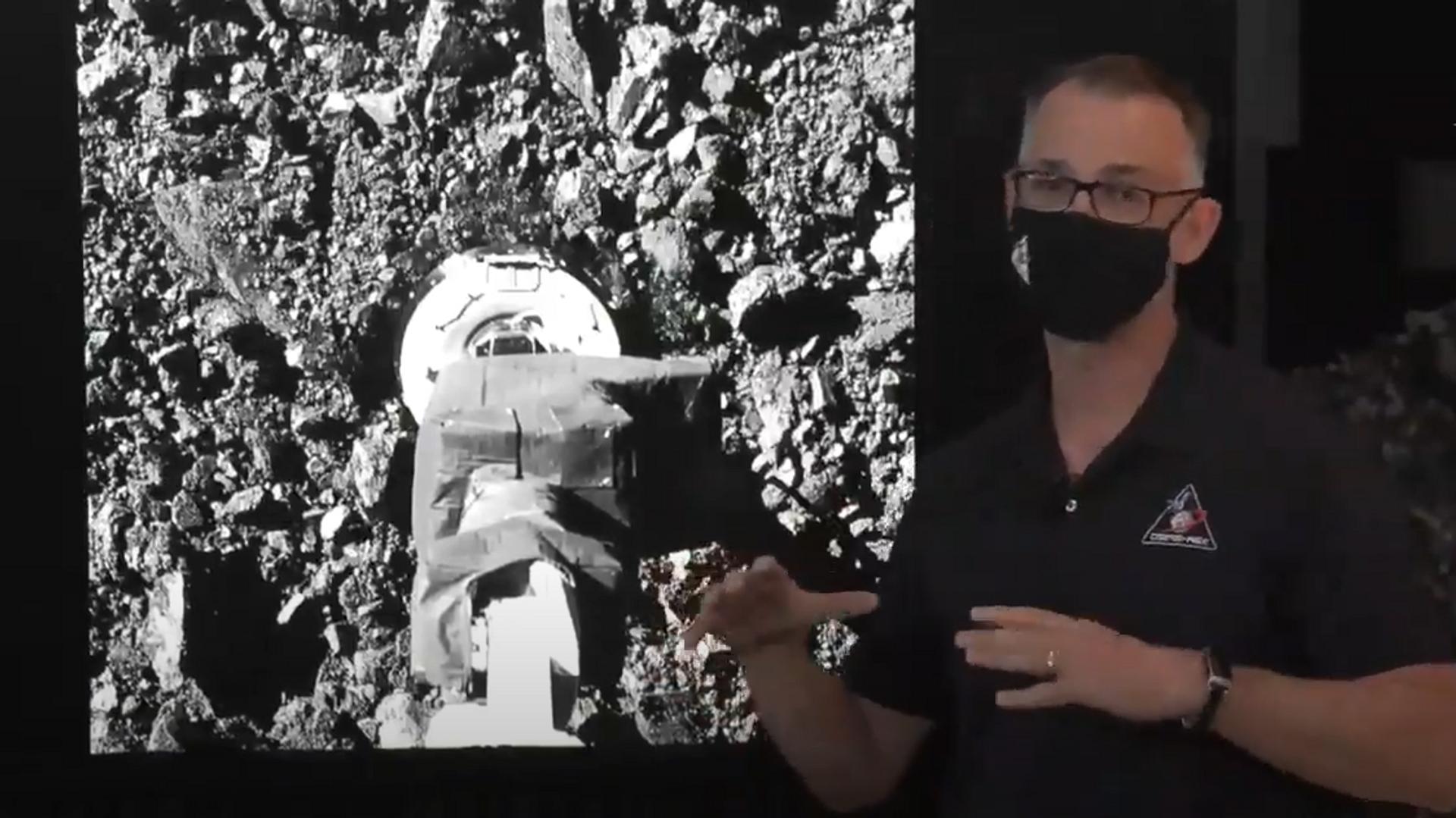 Прямая трансляция забора грунта автоматическим зондом Osiris-Rex с астероида Бенну - РИА Новости, 1920, 22.10.2020