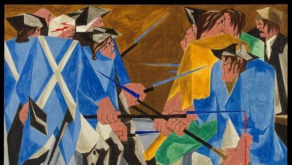 Картина № 16 из серии Борьба. Из истории американского народа Джейкоба Лоуренса, 1956 год