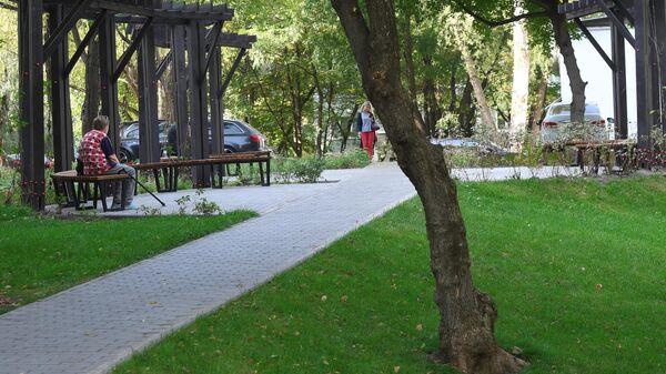 Благоустроенная территория парка