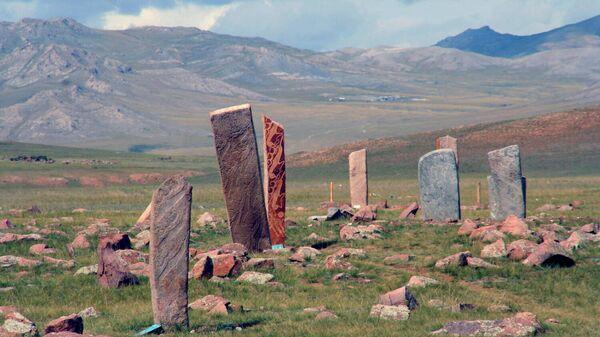 Оленные камни в Монголии