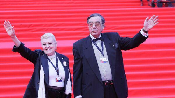 Актриса Наталья Дрожжина и ее супруг меценат Михаил Цивин