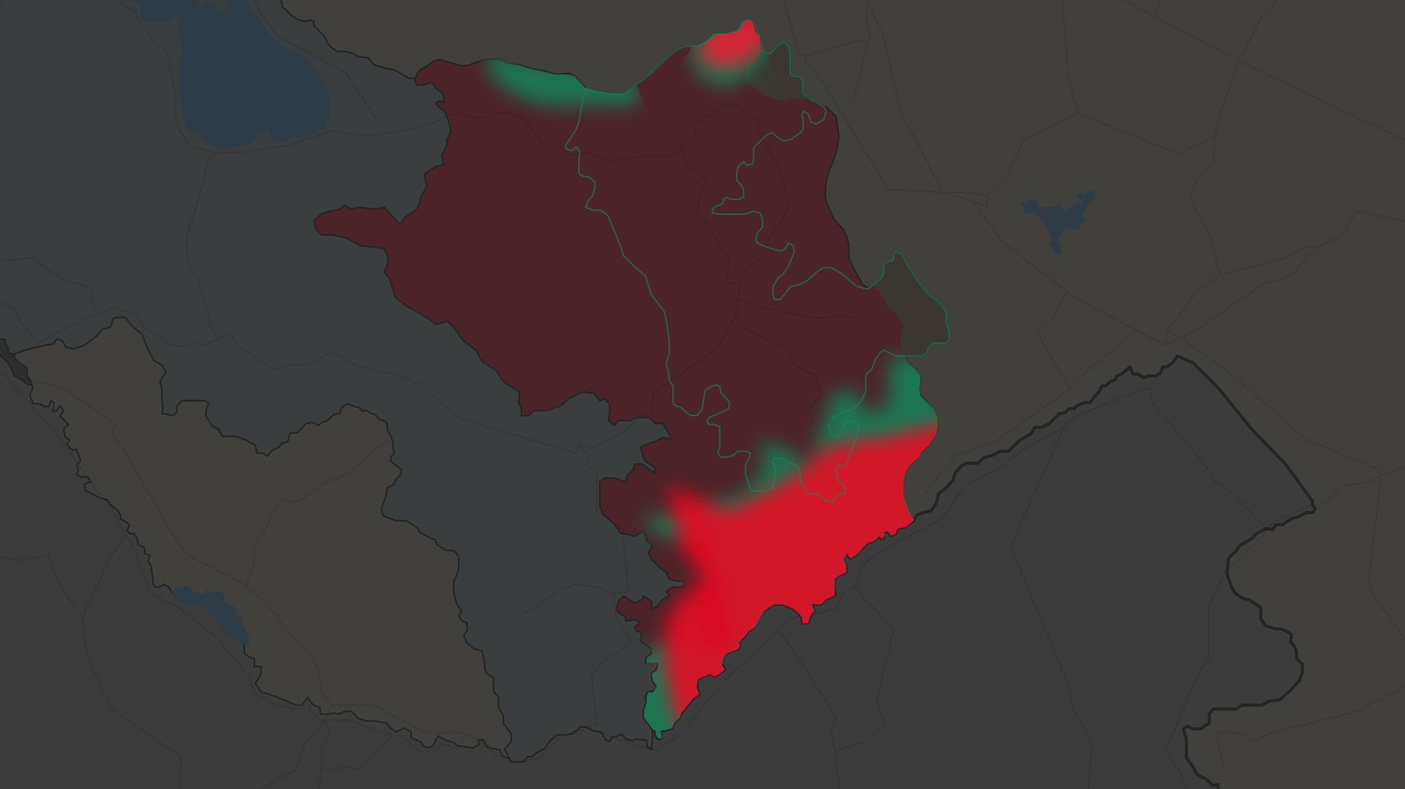 Конфликт в Нагорном Карабахе: какие районы занял Азербайджан