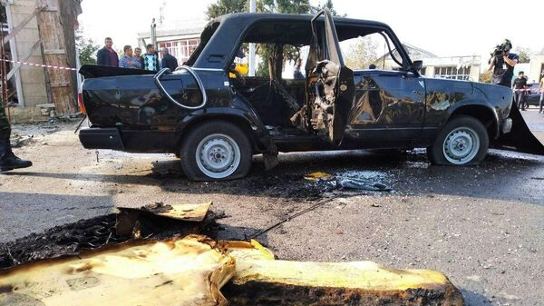 Последствия обстрела в азербайджанской Барде