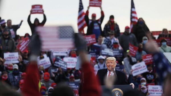 Выступление президента США Дональда Трампа в Нью-Гэмпшире, США