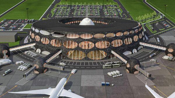 Проект здания аэровокзала в Петропавловске-Камчатском