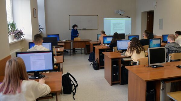 Студенты Уральского федерального университета во время семинара в Екатеринбурге