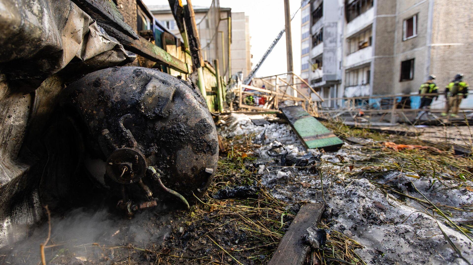 Последствия взрыва и возгорания в поликлинике 2-й городской больницы Челябинска - РИА Новости, 1920, 31.10.2020